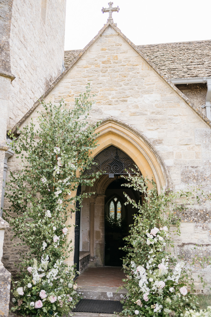 Chapel wedding entrance