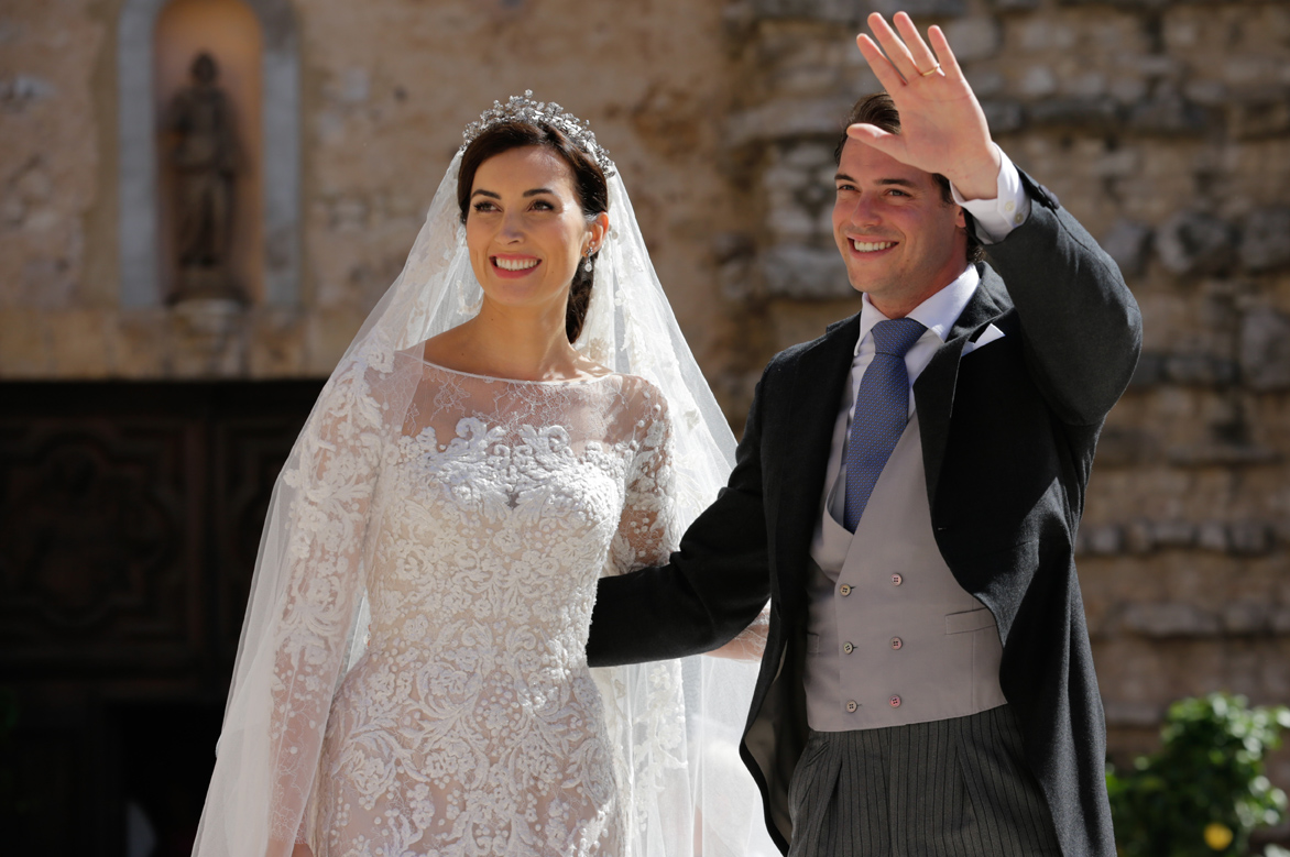 Prince Felix of Luxembourg on his wedding day with Claire Lademacher