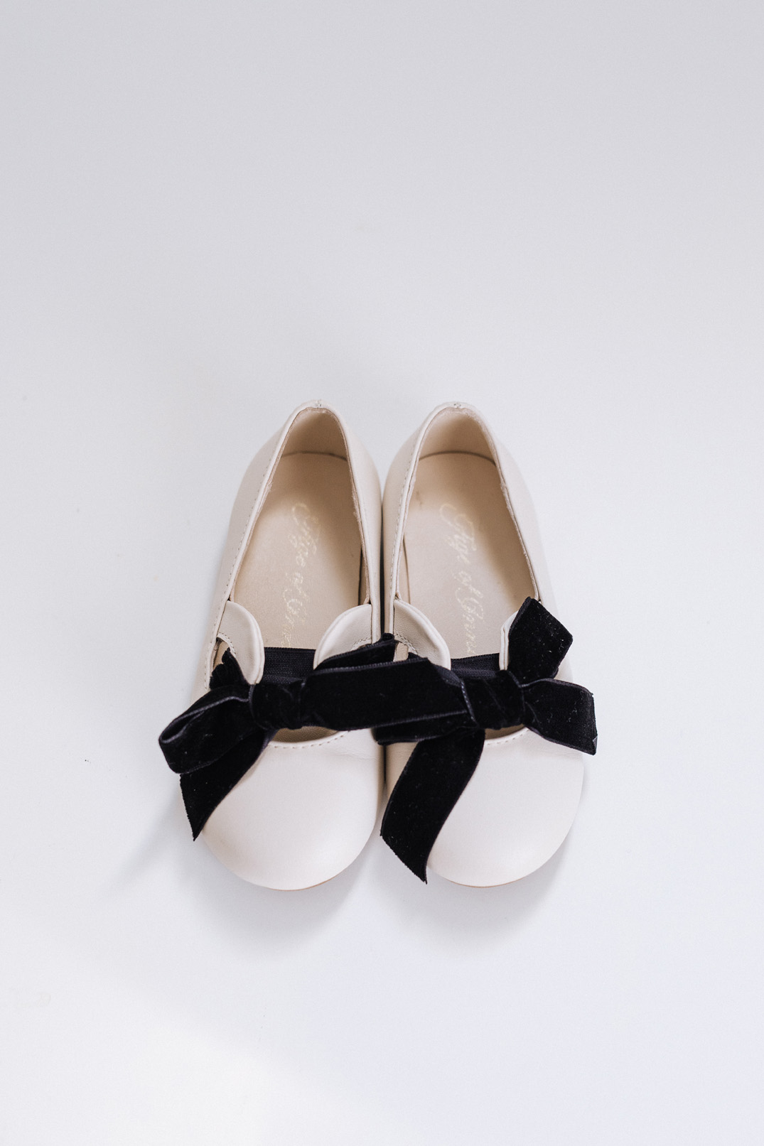Matching shoes for the flower girl