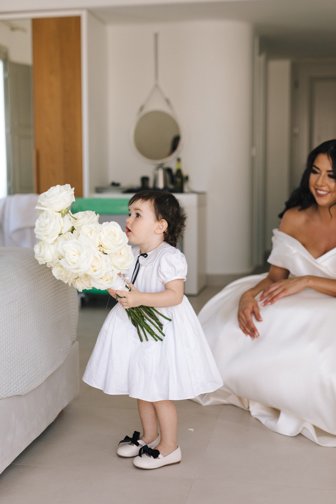 The bride and her daughter are now ready
