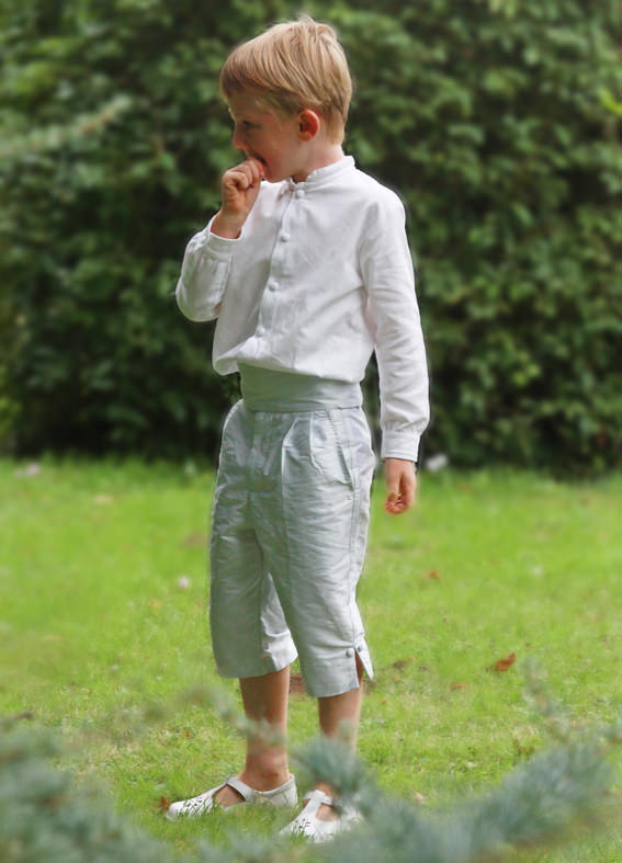 Royal wedding page boy 3/4 length trousers by Little Eglantine
