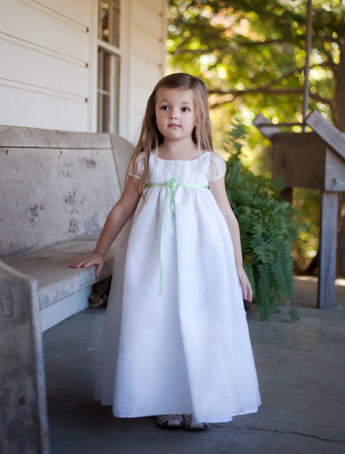 Delicate silk organza flower girl dress New york Bridal Fashion Week little Eglantine