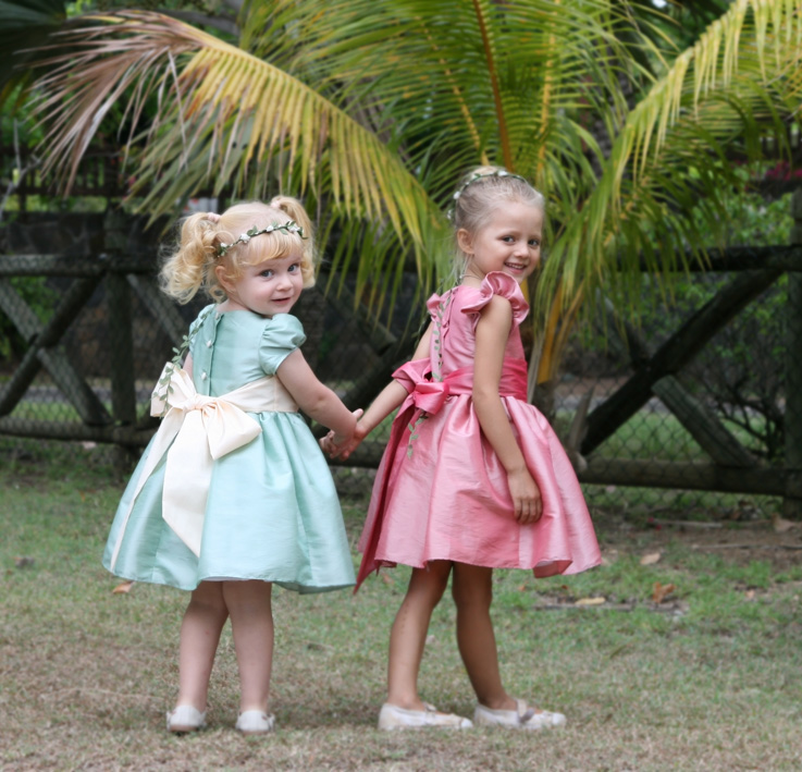 Designer flower girl dresses by Royal designer Little Eglantine