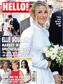 Hello Magazine cover - Ellie Goulding wedding