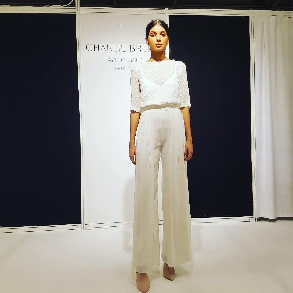 Charlie Brear wedding trousers - White Gallery 2018