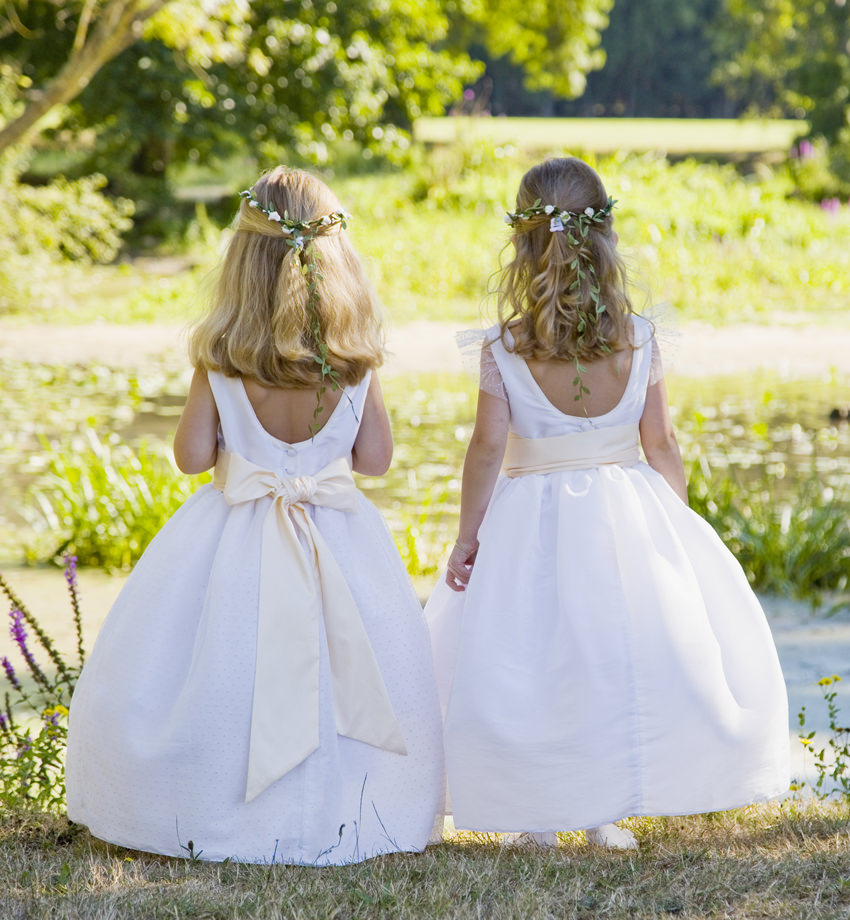 Olympia and Celeste flower girl dresses