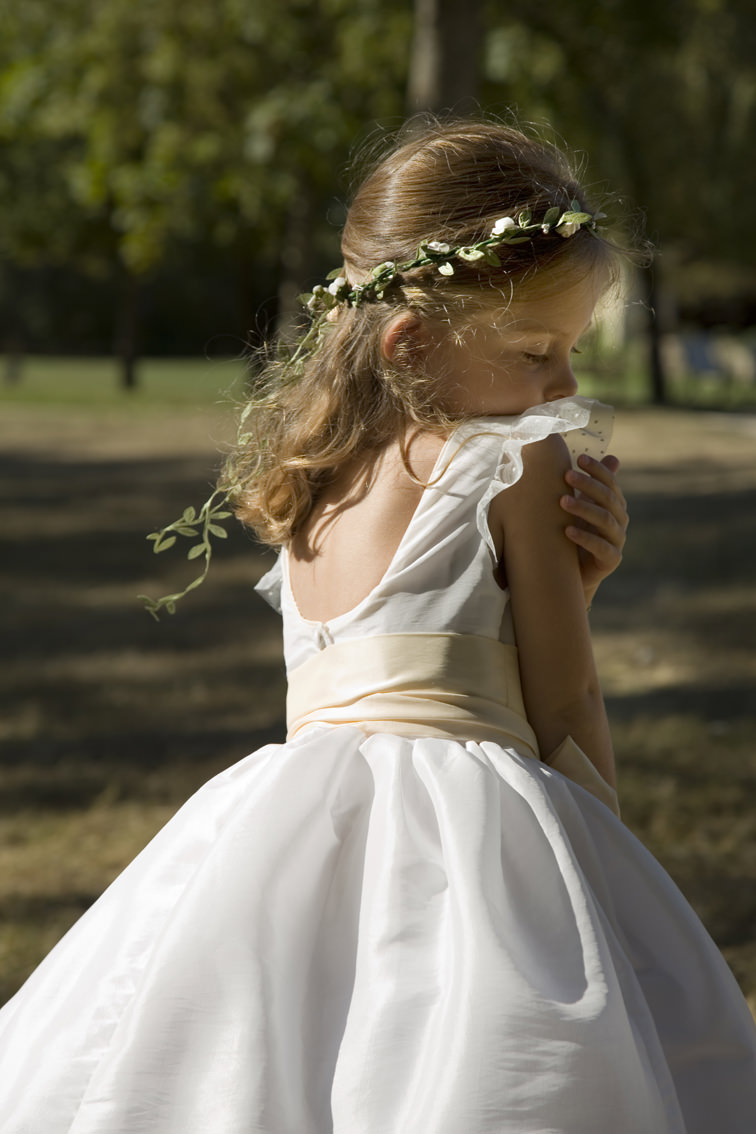 New York bridal fashion week designer flower girl dress by French Uk designer Little Eglantine