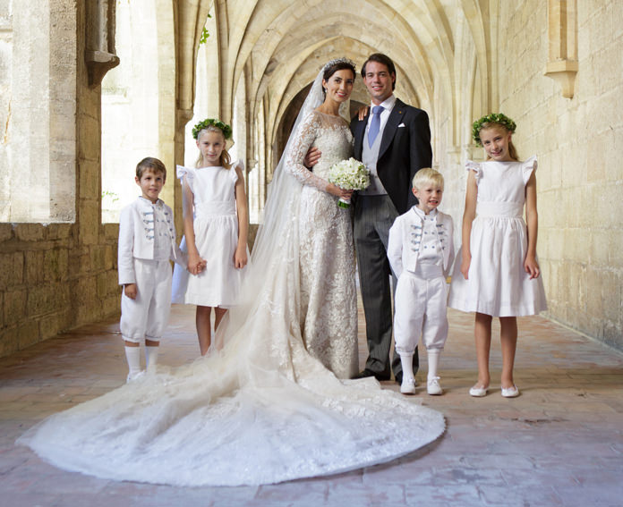 Prince Felix of Luxembourg Royal wedding with CLaire lademacher- page boy outfits and flower girl dresses Little Eglantine