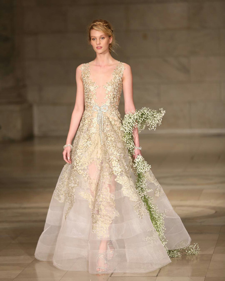 New York Bridal Fashion week Reem Acra wedding gown