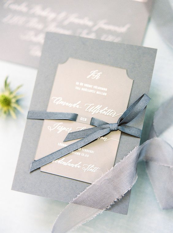 Pale blue wedding invitation-stylemepretty.com
