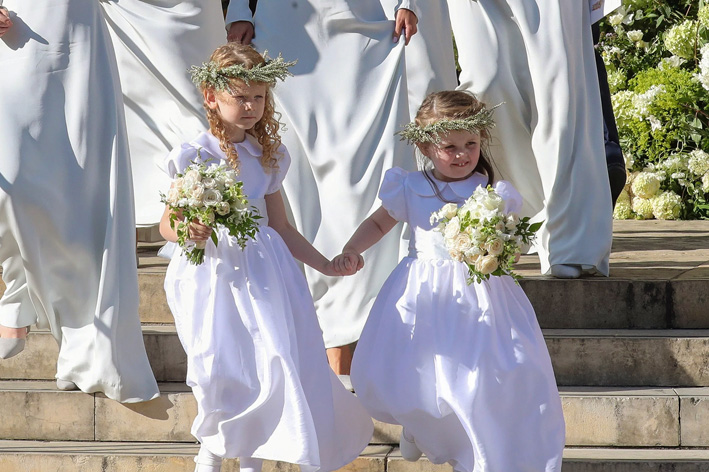 Ellie Goulding wedding included adorable flower girls, wearing Little Eglantine creations