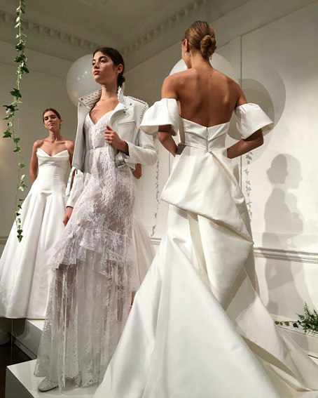 Monique Lhuillier wedding dresses New York Bridal Fashion Week