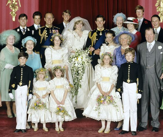 Princess Diana's royal wedding : flower girls and page boys a