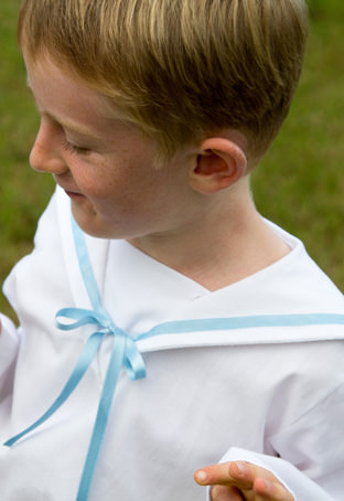 Sailor top for page boys by Little Eglantine