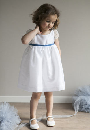 Flower girl dress fit for a royal wedding by Little Eglantine