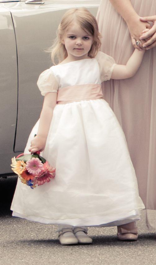 fe9dbded89 Flower girl soft pink sash matching blush pink bridesmaid dresses little  eglantine