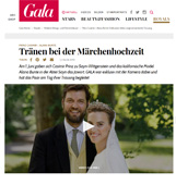 Alana Bunte Royal wedding to Prince Casimir - Gala