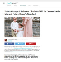 Prince George & Princess Charlotte Will Be Dressed to the Nines at Prince Harry's Wedding Little Eglantine