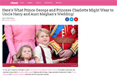 What Prince George and Princess Charlotte will wear to Harry and Meghan's wedding - little eglantine