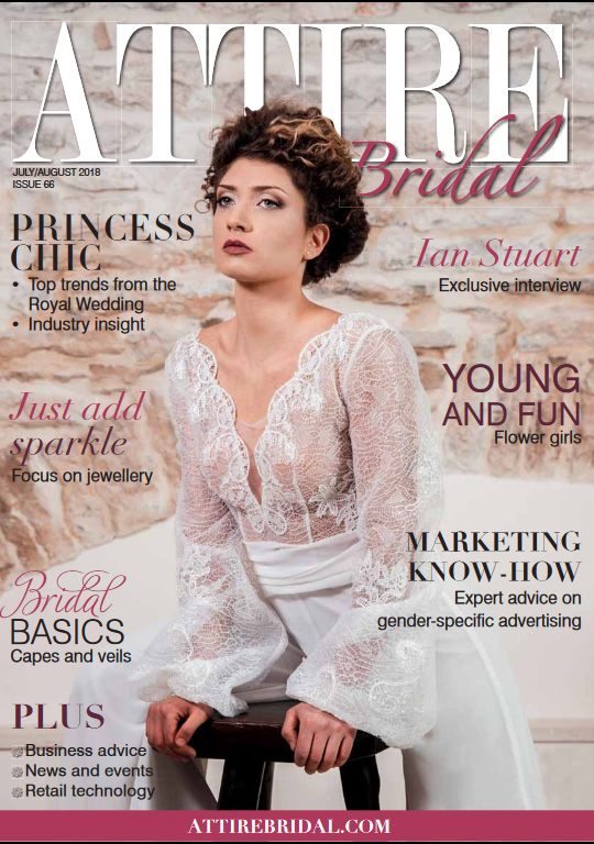 Attire bridal magazine cover - june july 2018