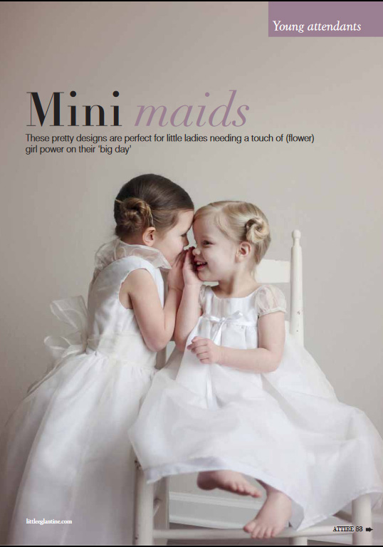 Little Eglantine designs in Attire Bridal Magazine June July 2018