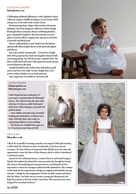 Little Eglantine in Attire bridal magazine