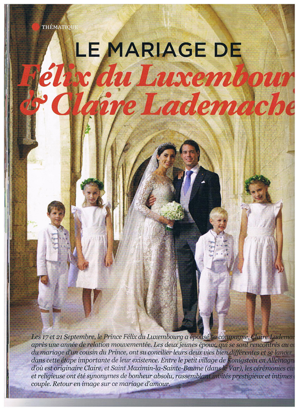 princess Claire and Prince Felix of Luxembourg wedding
