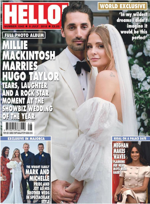 Millie Mackintosh on cover of Hello magazine july 2018