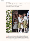 what you can expect Prince Georges and princess Charlotte will wear at royal wedding little eglantine brides.com