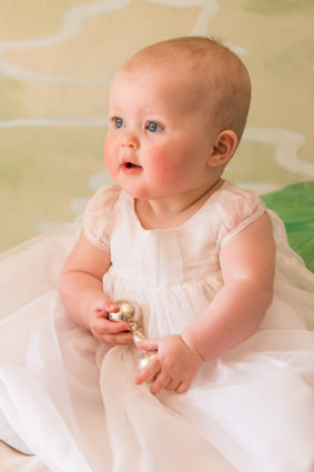 Christening dress by French designer Little Eglantine