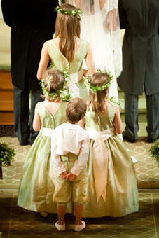 Pale green flower girl dresses and page boy knickerbockers real weding little eglantine