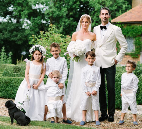 Millie Mackintosh chose Little Eglantine flower girl dress and page boy outfits for her wedding with Hugo Taylor