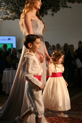 Designer flower girl dresses by little eglantine on the catlwak- fashion week