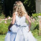Here we go! Ready for a great day! White taffeta dress with silk organza overlay and pale blue dupion silk sash... just a dream! . . . #beauty #flowergirl #flowergirldress #littleeglantine #frenchcouture #kidscouture #luxuryweddingplanning