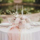 Such a romantic wedding tablescape, don't you think? . . . #weddingplanning #tablescape