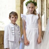 Princess Claire had chosen Little Eglantine bespoke creations for her flower girls and page boys, all wearing delicate white linen outfits with pale blue taffeta details. We are celebrating her wedding anniversary all of this week. You can read all the details on our blog. . . . #clairelademacher #princessclaire #royalwedding #weddinganniversary #littleeglantine #frenchdesigner #frenchmaisondecouture #luxurywedding #societywedding #flowergirl #pageboy