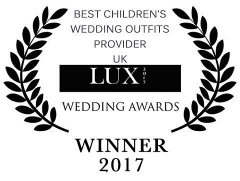 We won the Best Children's Wedding Outfits Provider 2017 Lux Wedding Award!