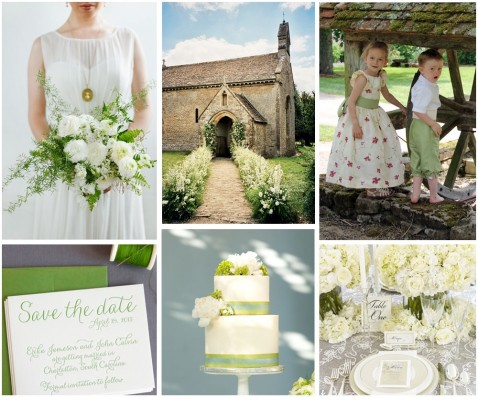 Pale Green Spring Wedding Inspiration